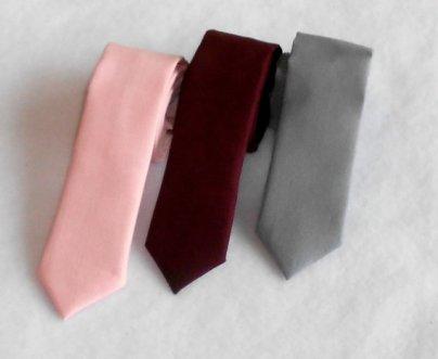 Burgundy and pink men's ties - www.etsy.com/shop/kellybowbelly