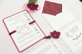 Burgundy and pink wedding invitation - www.etsy.com/shop/LoveStoreyWeddings
