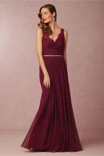 Burgundy 'Fleur' dress - bhldn.com