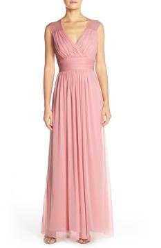Light pink Alfred Sung chiffon bridesmaid dress - nordstrom.com