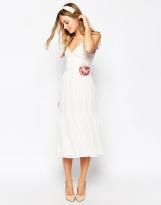 Asos corsage midi bridesmaid dress - asos.com