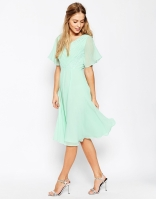 Asos lace and pleat mint bridesmaid dress - asos.com