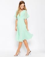 Asos lace and pleat mint bridesmaid dress - asos.com