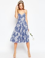 Asos rose print bridesmaid dress - asos.com