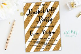 Bachelorette party invitation - www.etsy.com/shop/LaLunaDesigns