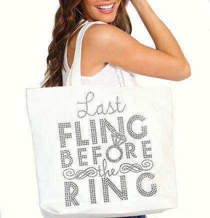Bachelorette party tote bag - www.etsy.com/shop/ABridalShop