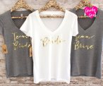 Bride and team bride t-shirts - www.etsy.com/shop/GNARLYGRAIL