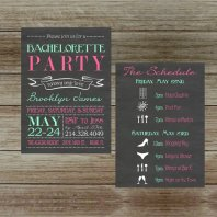 Customised bachelorette party invitation - www.etsy.com/shop/GoldenGirlDesignz