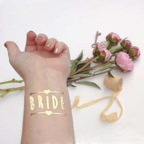 Gold 'bride' temporary tattoo - www.etsy.com/shop/KristenMcGillivray