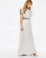 Maya cap-sleeve bridesmaid dress - asos.com