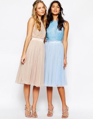 Maya embellished top and tulle skirt bridesmaid dress - asos.com