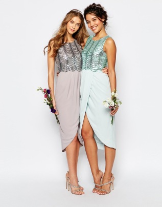 TFNC sequin-top bridesmaid dress - asos.com