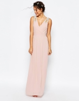 TFNC wrap embellished maxi bridesmaid dress - asos.com