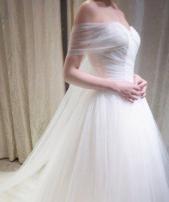 Off the shoulder wedding dress $450 - www.etsy.com/shop/WeekendWeddingDress