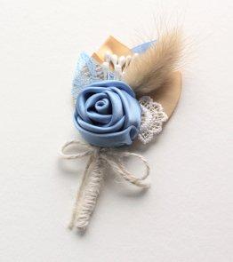 Cornflower blue boutonniere - www.etsy.com/shop/sunnyapril