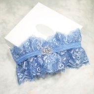 Cornflower blue garter - www.etsy.com/shop/cynthier