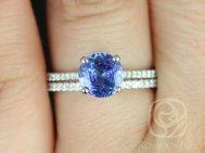 Cornflower blue sapphire ring - www.etsy.com/shop/rosadosbox