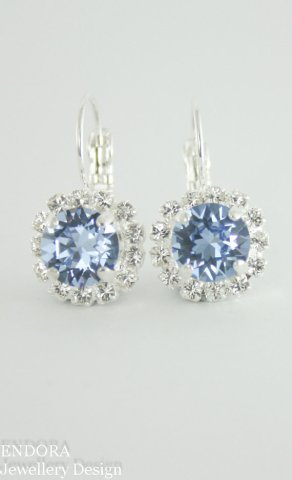 Cornflower blue Swarovski earrings - www.etsy.com/shop/endorajewellery