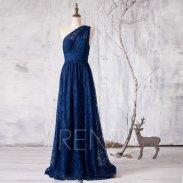 Navy lace bridesmaid dress - from www.etsy.com/shop/renzrags