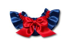 Red and navy garter - from www.etsy.com/shop/zofidesign