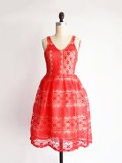 Red lace bridesmaid dress - from www.etsy.com/shop/apricity