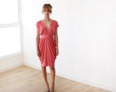 coral bridesmaid dress - www.etsy.com/shop/blushfashion