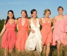 coral infinity bridesmaid dresses - www.etsy.com/shop/theradicalthreadco
