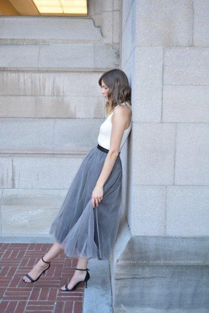 grey bridesmaid tulle skirt - www.etsy.com/shop/breauxsews