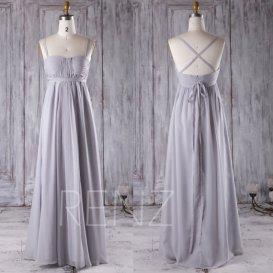 7374a8a1b2a9 grey chiffon bridesmaid dress - www.etsy.com/shop/renzrags