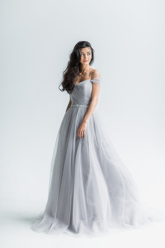 light gray wedding dress light grey wedding dress www etsy shop 5523