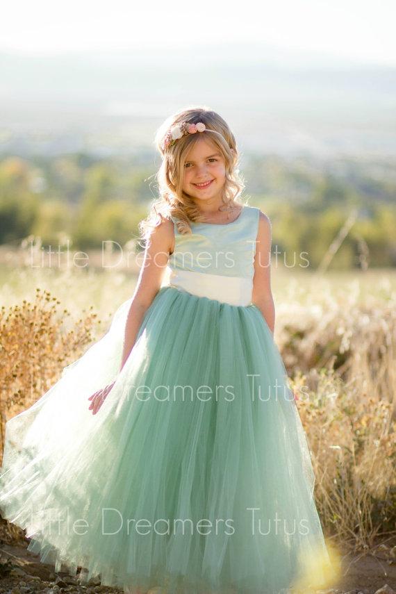 Sage Green Flower Girl Tutu Dress-Sage Green Birthday Dress-Sage Green Tutu Dress-Sage Green Dress-Sage Green Girl Tutu-Sage Green Bride