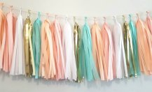 Available from https://www.etsy.com/nz/listing/548829806/peachy-mint-white-pink-gold-tassel?ga_order=most_relevant&ga_search_type=all&ga_view_type=gallery&ga_search_query=rose+gold%2C+mint+and+pink+wedding&ref=sr_gallery-1-4&organic_search_click=1