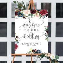 Printable welcome sign in five sizes - https://www.etsy.com/nz/listing/645856584/5-sizes-floral-editable-wedding-welcome?ga_order=most_relevant&ga_search_type=all&ga_view_type=gallery&ga_search_query=wedding+reception+decorations&ref=sc_gallery-4-13&plkey=75cf7a62b8de1973b3384fc2f82666a9b2e6c59b%3A645856584