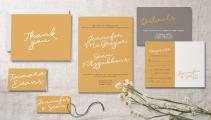 Mustard wedding invitations - https://www.etsy.com/nz/listing/584111207/gilded-finch-yellow-and-grey-typography?ga_order=most_relevant&ga_search_type=all&ga_view_type=gallery&ga_search_query=mustard+wedding+invitation&ref=sr_gallery-1-27&organic_search_click=1