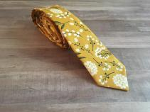 Mustard floral tie for the groom, from Etsy - https://www.etsy.com/nz/listing/631153804/skinny-tie-free-shipping-mens-skinny-tie?ga_order=most_relevant&ga_search_type=all&ga_view_type=gallery&ga_search_query=mustard+wedding&ref=sr_gallery-1-32&organic_search_click=1