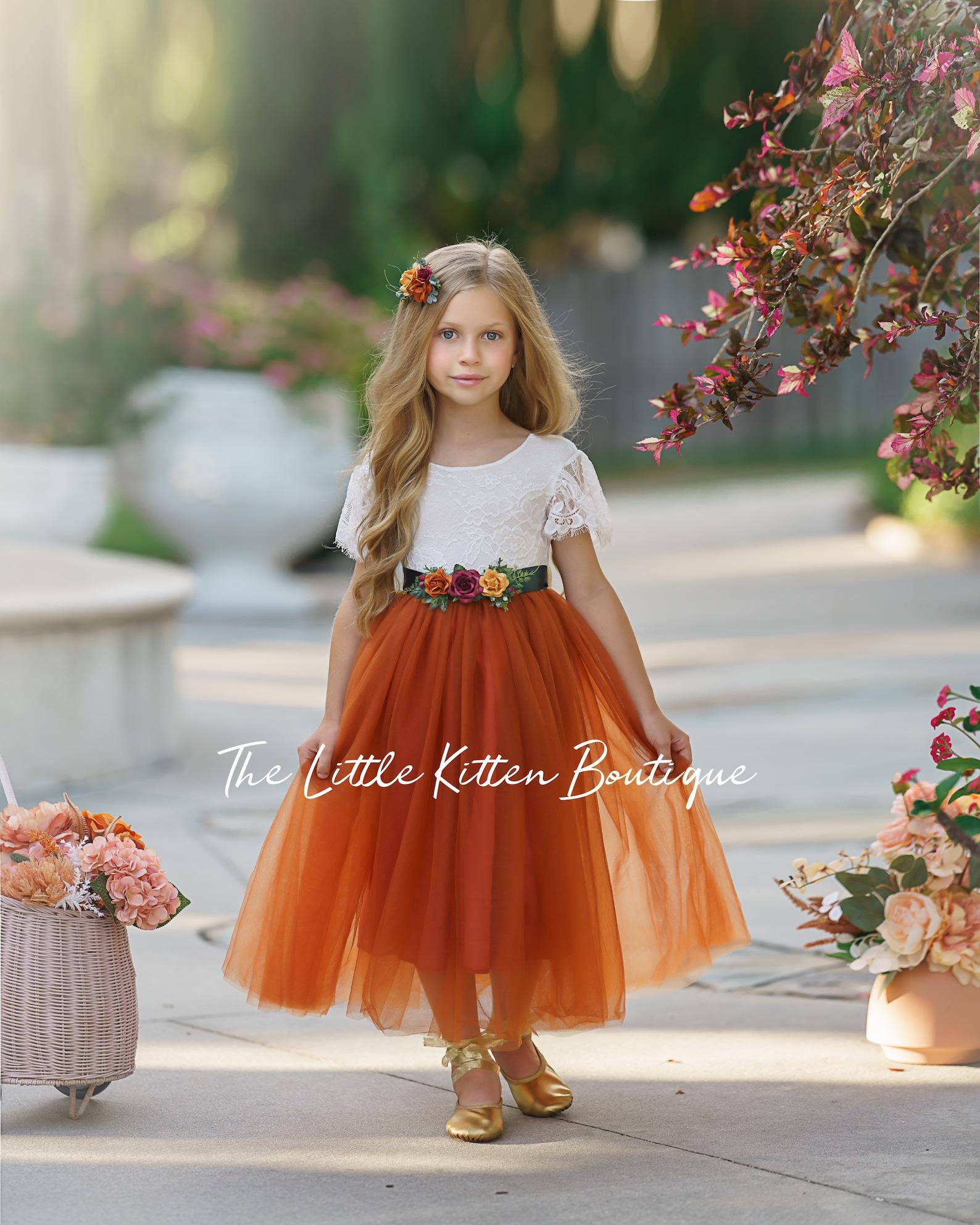 Autumn/Fall flower girl dress