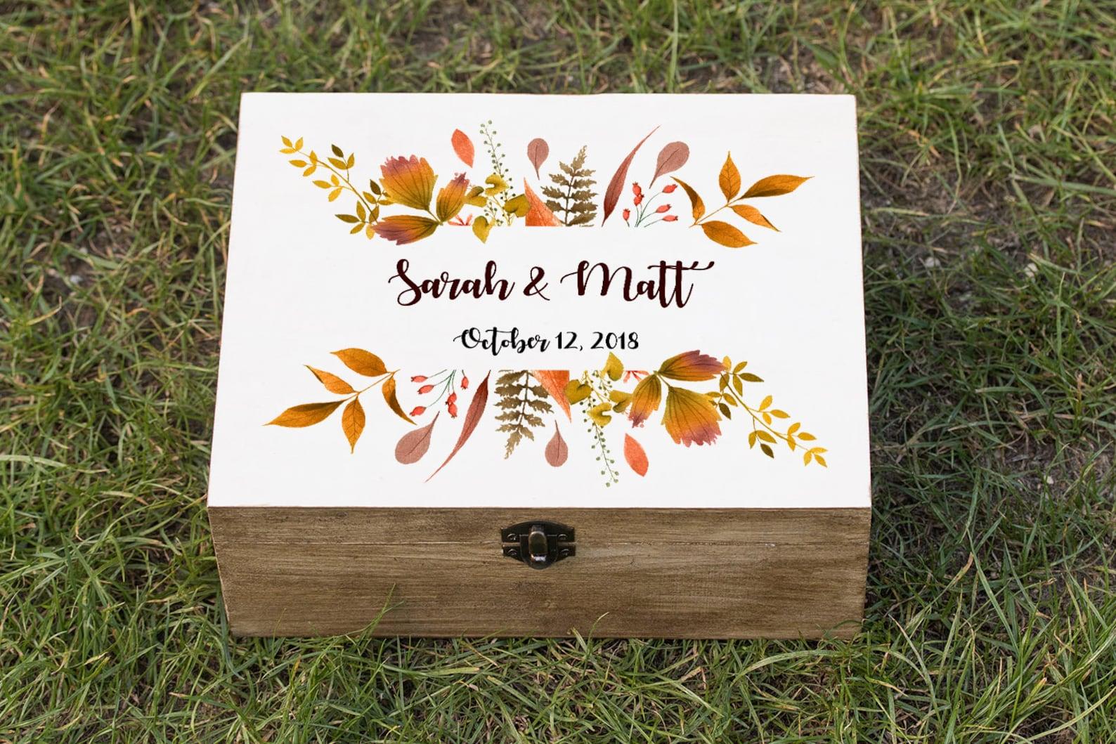 Autumn/Fall wedding card box