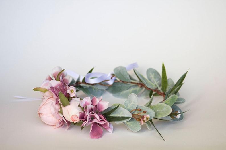 Custom-made flower crown