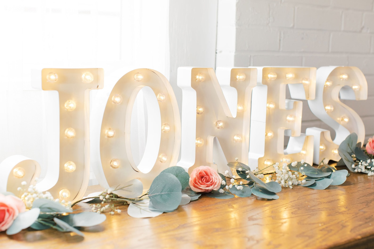 Personalised name lights