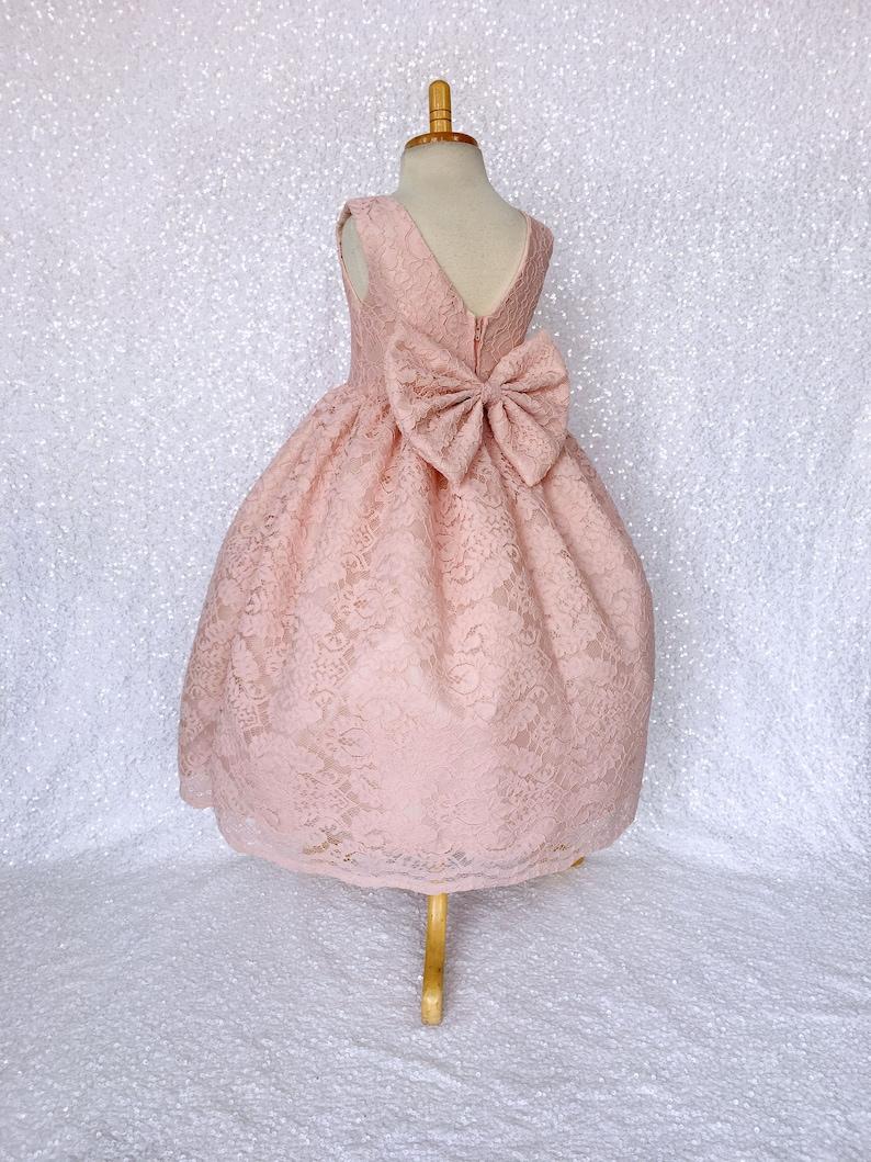 Pink chic flower girl dress